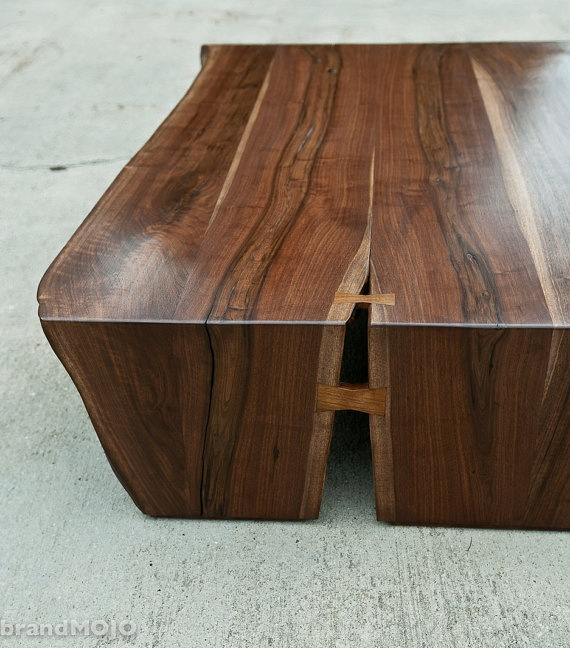 Live Edge Coffee Table / Customized Ottomon by brandmojointeriors, $1950.00