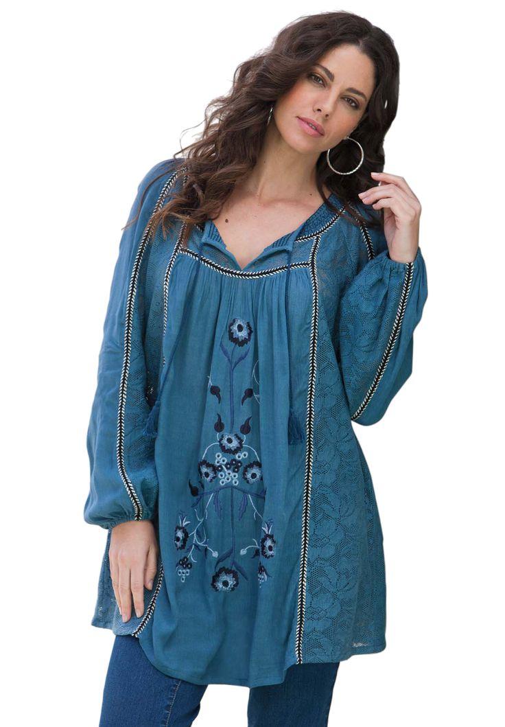 Boho Tunic Plus Size Tunics Onestopplus Plus Size