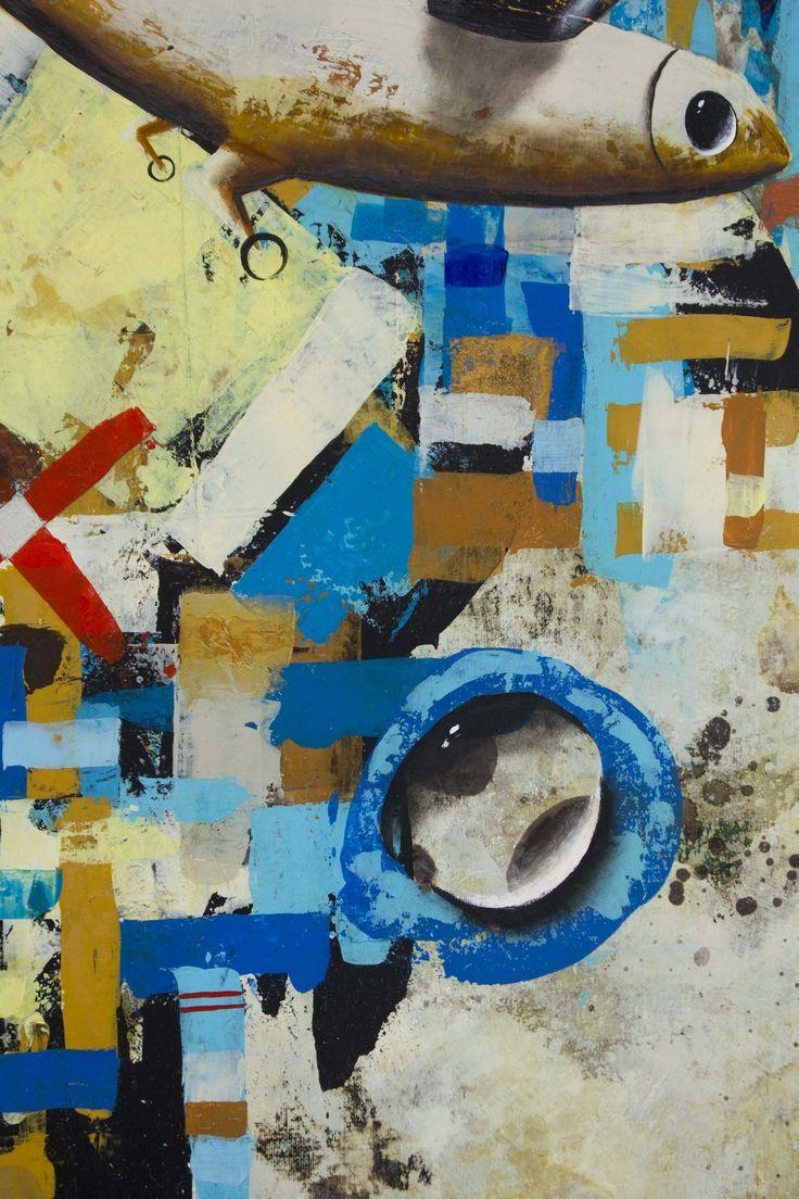 Detalle Título: Treinta y tres milimetros. Formato:   130 x 90 cm. Técnica: Óleo y acrílico sobre lienzo. Año: 2014