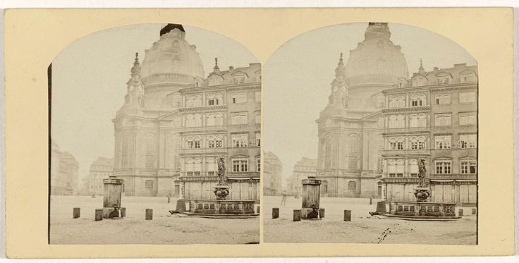 Anonymous | Dresde, Eglise evangelique, Anonymous, 1850 - 1880 |