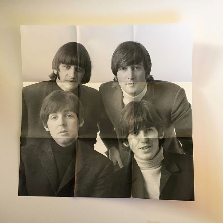 "The Beatles 21""x 21"" folded Poster issued by Apple Corps in 2011 / MINT"