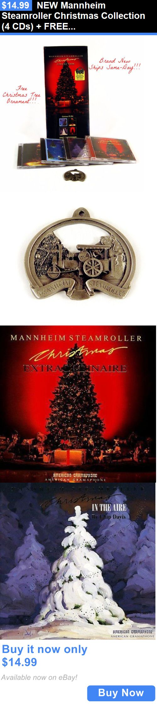 Christmas Songs And Album: New Mannheim Steamroller Christmas Collection (4 Cds) + Free Christmas Ornament BUY IT NOW ONLY: $14.99