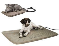 First Soft Outdoor Heated Bed - This soft, orthopedic bed is unique in that it will still provide soft, comfortable warmth even in sub-zero weather! The design offers warmth only under the pet so the energy efficient technology doesn't waste money trying to heat the entire surface of the bed. Rugged super soft PVC is used on the exterior to ensure the bed doesn't absorb water and remain wet like a fabric bed would.
