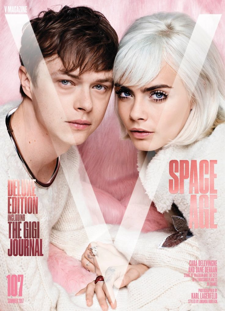 Cara Delevingne & 'Valerian' Co-Star Dane DeHaan Go Sci-Fi Chic for V Magazine
