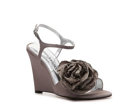 Flower: Grey Bridesmaid, Brooks Skylar, Wedge Sandals, Woman Shoes, Women Shoes, Bridesmaid Shoes, Wedges Sandals, Audrey Brooks, Skylar Wedges