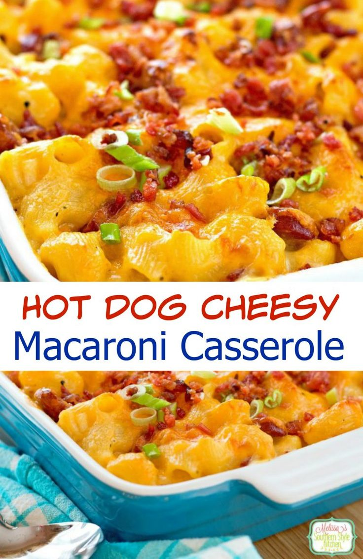 Looking for a fun dinner the whole family will love? Try this Hot Dog Cheesy Macaroni Casserole!