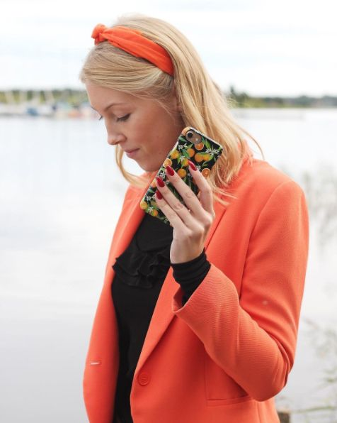 Tropical Fall by lovely @vilmanilsson - Fashion case phone cases iphone inspiration iDeal of Sweden #oranges #apelsiner #fruit #gold #leaf #fashion #inspo #iphone