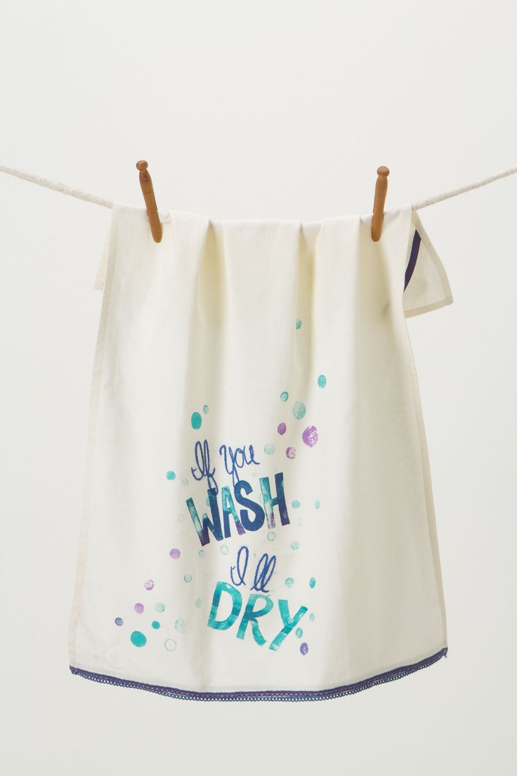 If You Wash, Ill Dry Dishtowel - Anthropologie.com