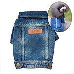 Cachorro Camisola com Capuz Jaquetas Jeans Roupas para Cães Vaqueiro Fashion Jeans Azul Ocasiões Especiais Para animais de estimação de 2018 por R$32.8