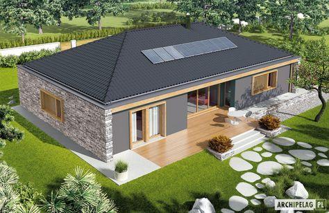 Projekty domów ARCHIPELAG - EX 8 II G2 (wersja D)
