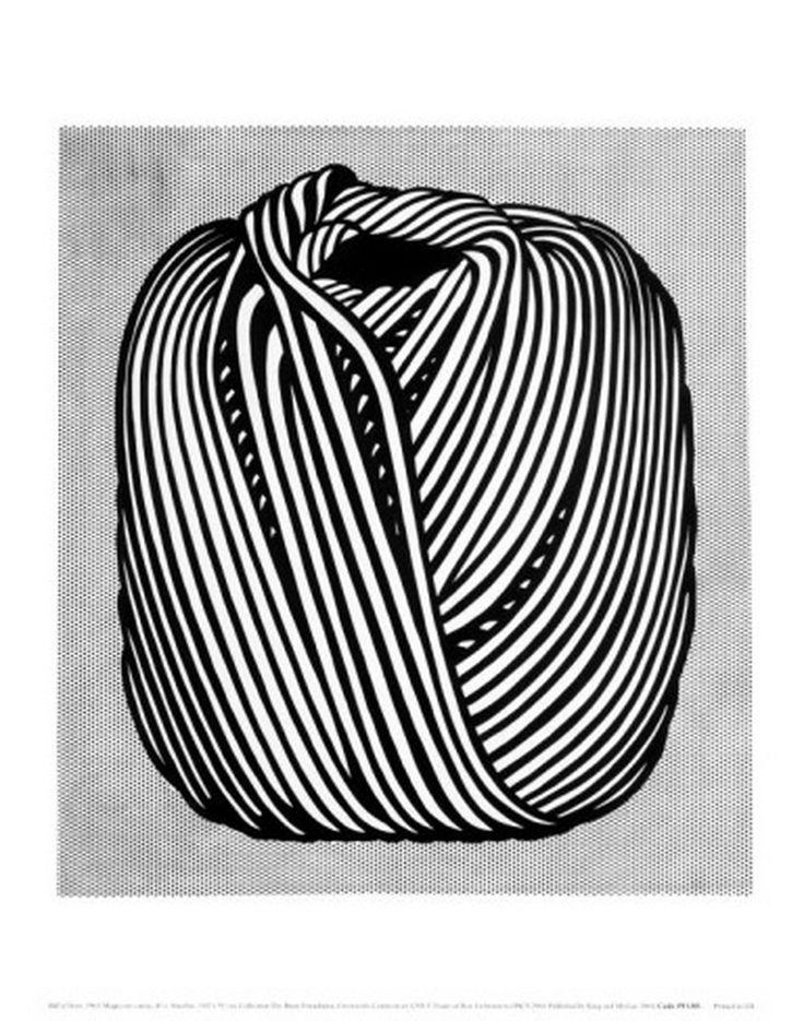 roy lichtenstein ball of twine 1963.jpg 944×1,200 pixels