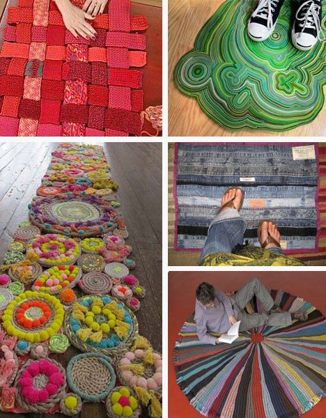 1800recycling has a roundup of totally DIY upcycled rugs.