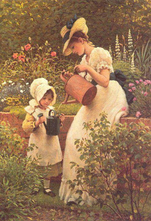 """Résultat de recherche d'images pour """"belle image de petite fille avec un arrosoir"""""""