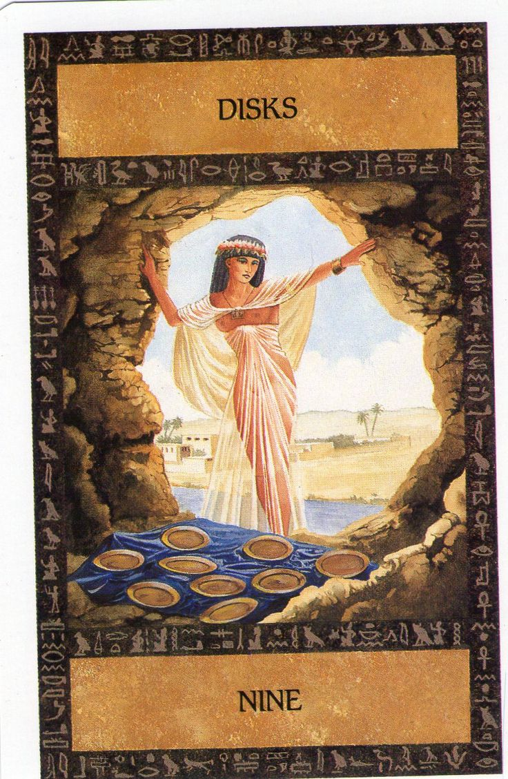 Egyptian Tarot Kit Deck Book Loscar: 17 Best Images About ***Minor Arcana: Disks, 9 On