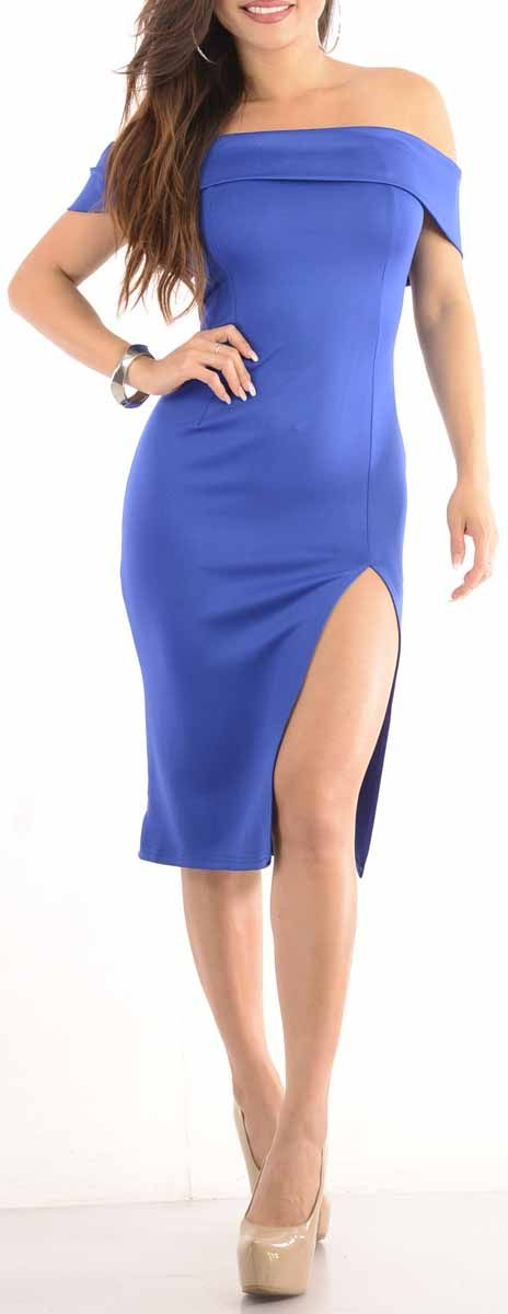 Rumors (Blue) Sexy Dress-Great Glam is the web's best online shop for trendy club styles, fashionable party dresses and dress wear, super hot clubbing clothing, stylish going out shirts, partying clothes, super cute and sexy club fashions, halter and tube