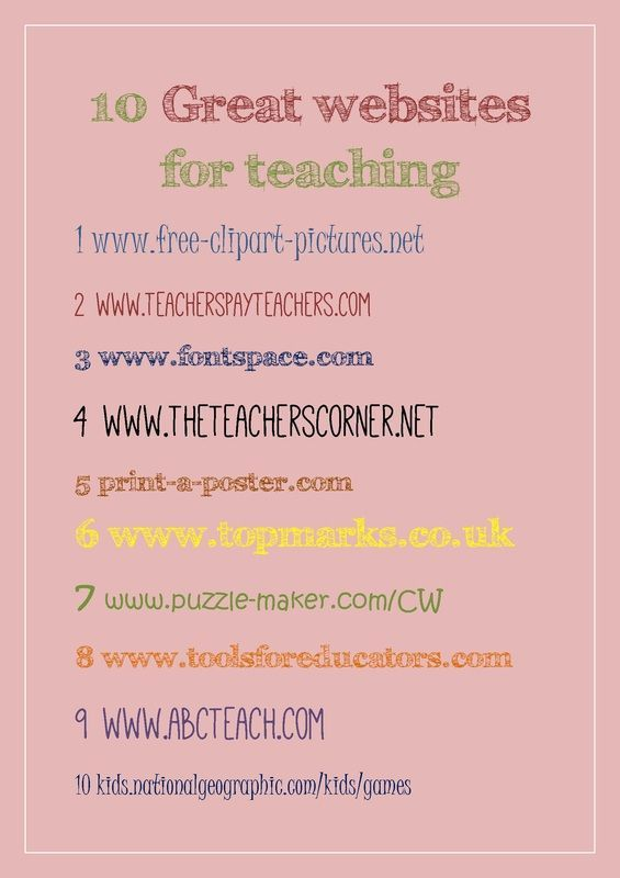 These Websites Have Many Free Resources To Be Used In The Classroom It Lists One Of My Favorites Teaching Teacher Websites Teaching Technology Teacher websites for worksheets