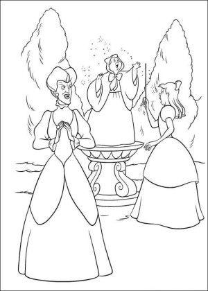 Cinderella coloring page 20