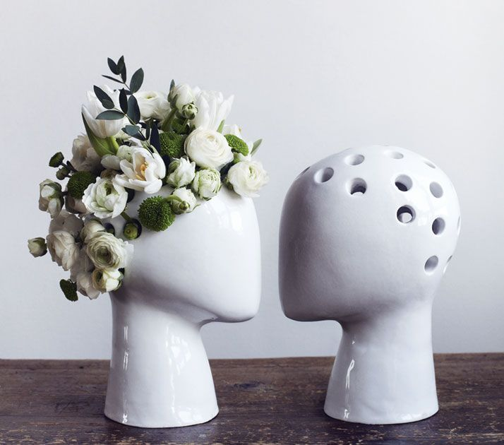 WIG: Head Shaped Vases Are Like Modern Chia Pets