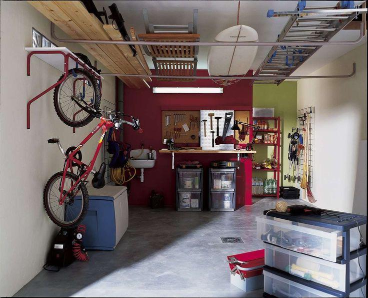 Célèbre Les 25 meilleures idées de la catégorie Rangement vélo garage sur  ID08
