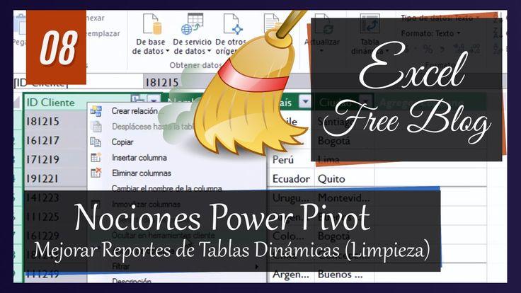 Mejorar reportes de tablas dinámicas (Limpieza de columnas) #Excel