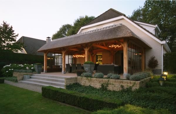 Terras overkapping bouwen, eikenhouten terrasoverkapping | Outdoor Uniek