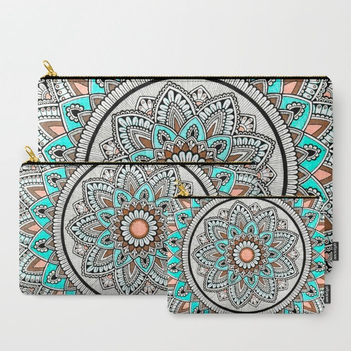 Beautiful Flower Carry-All Pouch by Cosmic Revelations | Society6