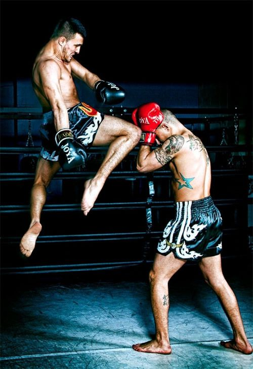 Muay Thai. Combat and Self Defense. Action Photography.