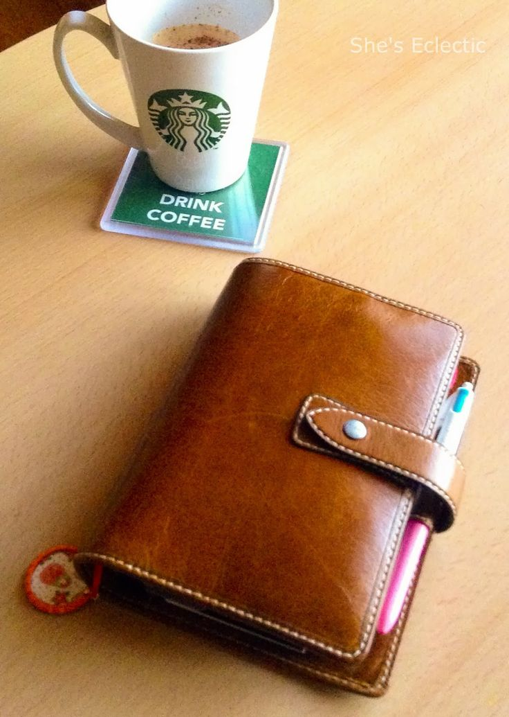 She's Eclectic: I have joined the Malden family..... and it's not aqua! My beautiful ochre Malden Filofax and a starbucks coffee.... bliss!