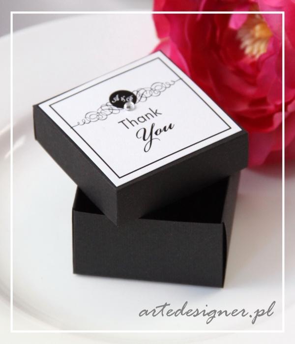 Podziękowania dla gości Tiffany / Tiffany favor box. Product By/ www.artedesigner.pl