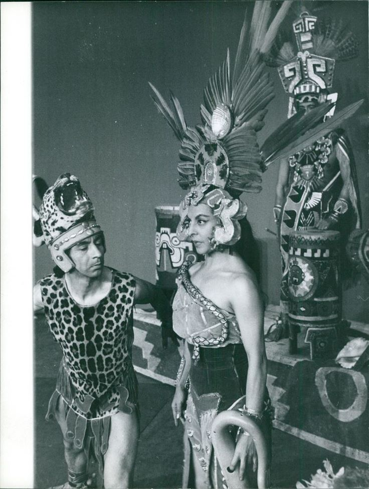 Vintage photo of Ballet performance about an Aztekisk Princess.Taken - Oct. 1960