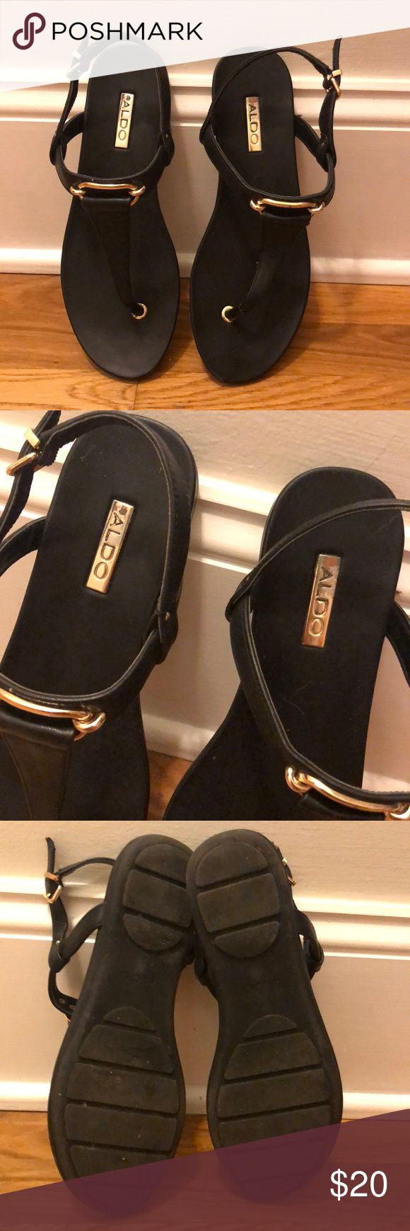 ALDO sandals with gold detail ✨ Effortless style…