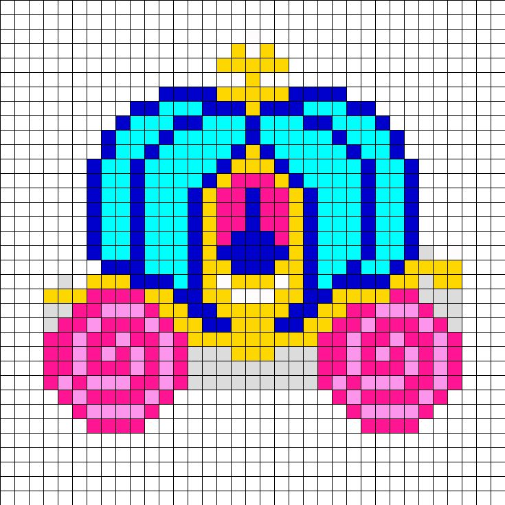 Cinderella Carriage  Perler Bead Pattern