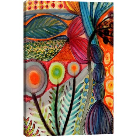 Equally at home in an artful collage or on its own as an eye-catching focal point, this charming canvas print showcases an abstract motif.  ...