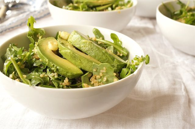 Arugula Quinoa Salad with Avocado and Bacon | Recipe | Bacon, Sweet ...