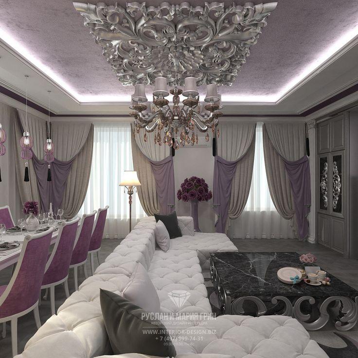 Фото интерьера гостиной в классическом стиле