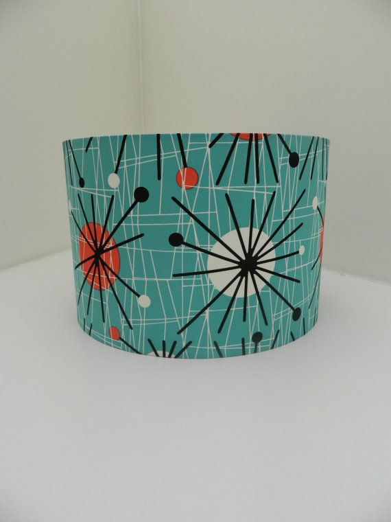 The 25 best fabric lampshade ideas on pinterest how to make 1950s retro atomic fabric lampshade aloadofball Choice Image