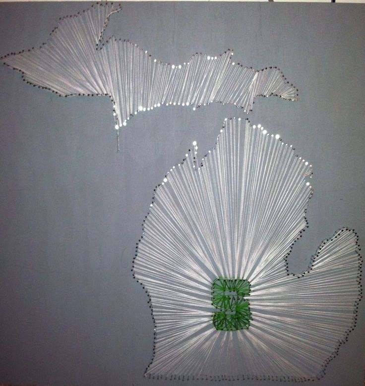 michigan state diy string art project crafts