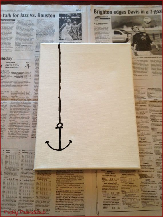 Nautical Canvas Art D.I.Y. | Pretty Providence