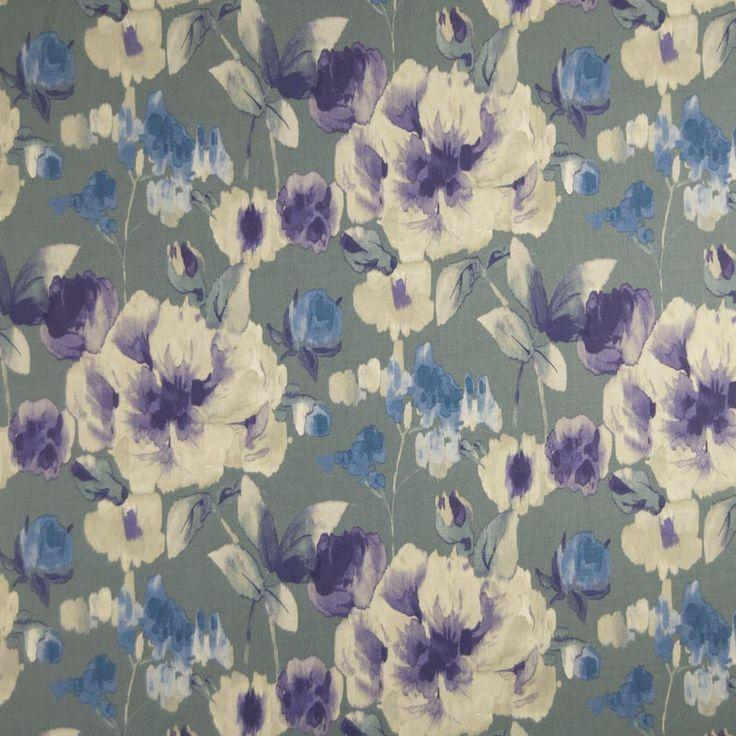 Warwick Fabrics : WATERCOLOUR, Colour AZURE