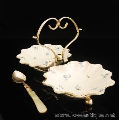 ジャム バターディッシュ マザーオブパール ジャムスプーン   イギリスアンティーク Love Antique of London 英国アンティーク