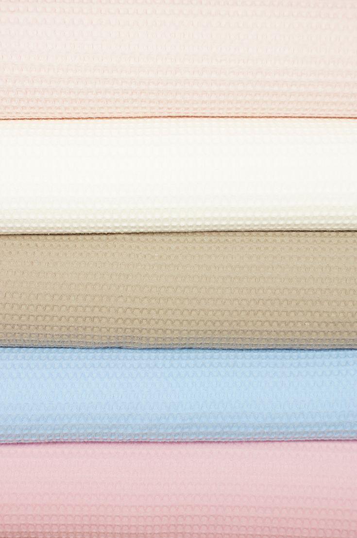 Onze collectie wafelkatoen is uitgebreid met nieuwe kleuren!