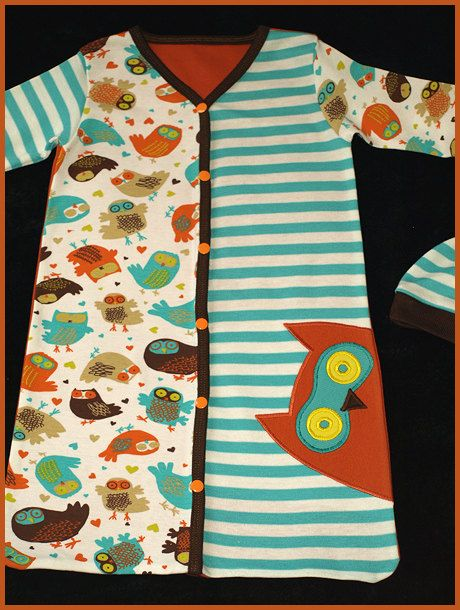 Snap It Up Baby Sack Gown Layette PDF Pattern
