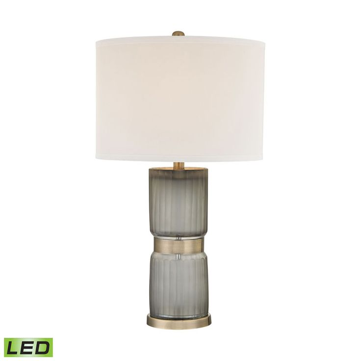 Cotillion grey and antique brass led table lamp dimond accent lamp table lamps lamps
