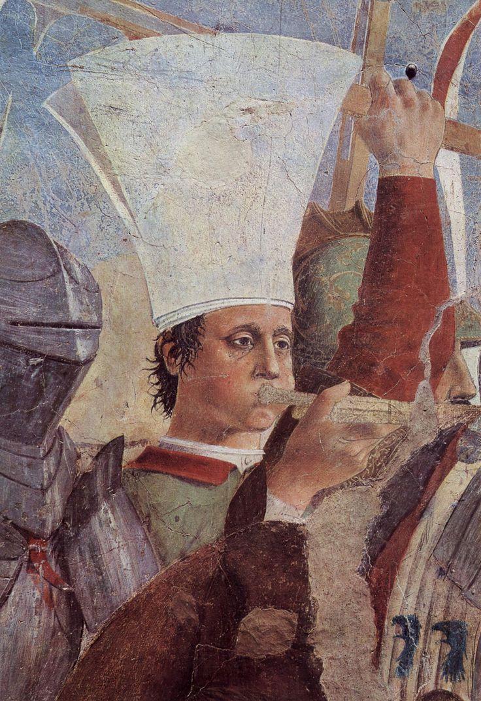iero della Francesca, Battaglia di Eraclio e Cosroè, c. 1455, affresco, 329 x 747 cm, Basilica di San Francesco, Arezzo