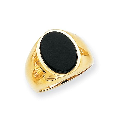 14k Men's Onyx Ring OR184