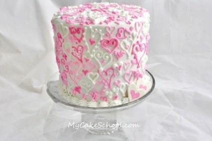 Heart-covered Cake