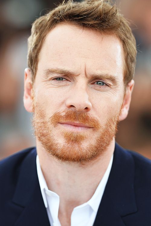 Well hello Mr.Fassbender. I didn't remember him THAT ginger. I am impressed