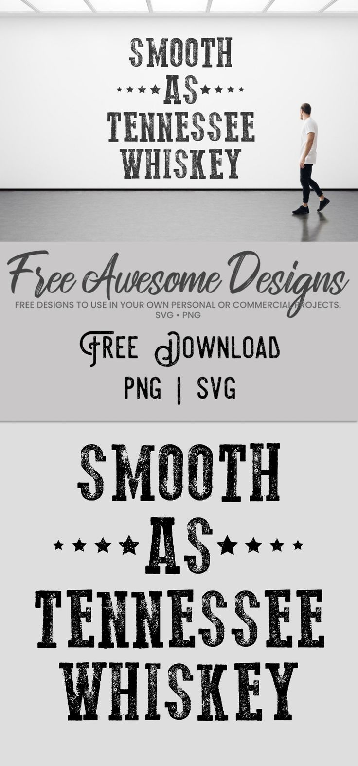 Smooth As Tennessee Whiskey Free Design SVG PNG Free