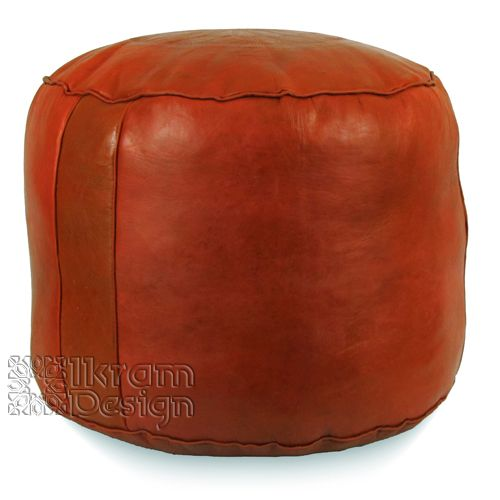 Ikram Design - Dark Orange Tabouret Fez Pouf, $89.99 (http://www.ikramdesign.com/dark-orange-tabouret-fez-pouf/)1022