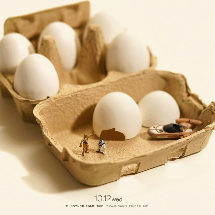 Eggs With Miniature Figures